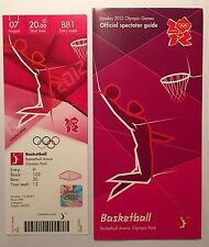 LONDON 2012 TICKET BASKETBALL 07 AUG 2000 B81 £95 AND SPECTATOR GUIDE *MINT*