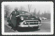 1953 RPPC* REAL PHOTO AUTO LOOKS EUROPEAN SEE BACK CAN YOU MAKE IT OUT? SEE INFO
