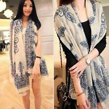 Soft Stole Long Summer Spring Voile Wrap Shawl Scarves Chiffon Cotton Scarf