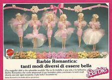 X1350 Barbie Romantica - Mattel - Pubblicità del 1989 - Vintage advertising