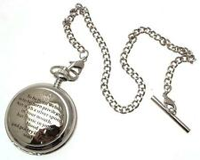 Solid pewter mechanical pocket watch To Be Born Welsh