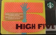 "2015 STARBUCKS ""HIGH FIVE"" GIFT CARD LIMITED EDITION SERIES 6113"