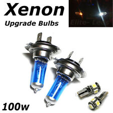 H7 100w SUPER WHITE XENON (499) HID Head Light Bulbs 12v + 5 Led W5W Sidelights