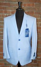 40 S SLIM FIT STUDIO 18  BRAND NEW MENS LIGHT BLUE  2 BUTTON SOLID 2 PIECE SUIT