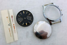 VINTAGE NOS CHRONOGRAPH CASE STAINLESS STEEL DIAL HANDS CRYSTAL LANDERON 48, 51