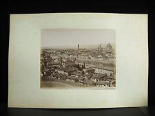 Fotografia tirage albuminé Vue de Firenze Monte alle Croci c1880 photographie