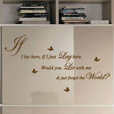 IF I LAY HERE Snow Patrol Wall Quote Stickers Wall Decals Words Lettering p2