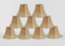 "Urbanest Faux Leather Mini Chandelier Lamp Shades, Bell, 3"" x 6"" x 5"", Set of 9"