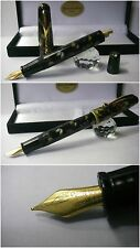 Celluloid Fountain Pen Mosaic Fossil Stylo button filler - Penna Stilografica