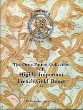 CHRISTIE'S FRENCH GOLD BOXES ORTIZ-PATINO Collection Set 2 Auction Catalog 1973