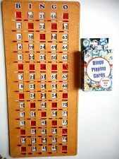 BINGO MASTERBOARD SLIDE CARD WITH NUMBERS 1-75 + DECK OF 75 BINGO CALLING CARDS
