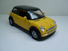 Mini Cooper gelb, Welly Auto Modell ca. 1:34 - 1:38, Neu