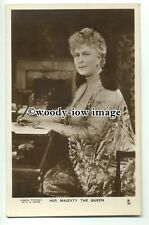 r0594 - Queen Mary wife of King George V at her writing desk - postcard