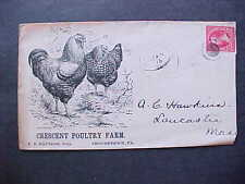 Pennsylvania: Shousetown 1900 Crescent Chicken Illustrated Advertising Cover