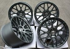 "19"" CALIBRE CCM CROSS SPOKE CONCAVE STAGGERED ALLOY WHEELS MATT GUNMETAL 19 INCH"