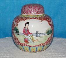 Reputable Porcelain Ginger Jar & CORK Stopper Chinese Jingdezhen Famille Rose