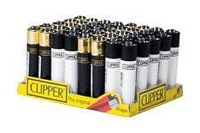 SET DI 4 ACCENDINI CLIPPER BLACK & WHITE Da Collezione Lighter Gift Box Regalo