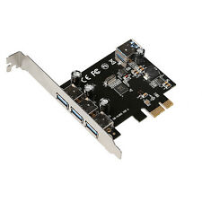 Super-Speed 4 Port USB 3.0 PCI-E PCIe PCI Express Expansion Card For Desktop New