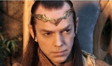 Hot Lord of the Rings HOBBIT ELROND LEAF CROWN Circlet Gold Lord King Elf Elven