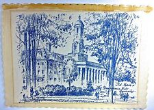 PENN STATE UNIV., 'OLD MAIN', original Pen and Brush Drawing, by Milton Osborne