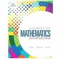 A Survey Of Mathematics With Applications - Allen R Angel College Business Math