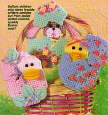 EASTER EGG SURPRISE DUCK BUNNY CHICK PLASTIC CANVAS PATTERN INSTRUCTIONS ONLY