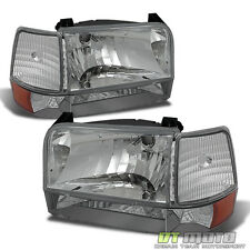 1992-1996 Bronco F150 F250 F350 Headlights Bumper Signal Corner Lamps Left+Right