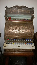 Rare Antique National Cash Register 8 Barber Beauty Jewelry Shop NCR Advertising