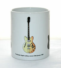 Guitar Mug. The Beatles Apple rooftop guitar illustrations.