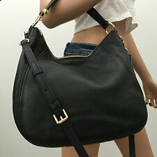 NWT MICHAEL KORS LARGE BLACK PEBBLED LEATHER TOTE SHOULDER HANDBAG BAG PURSE