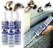 3 TUBES BIRDX BIRD PROOF DETERRENT SCARES ROOSTING,NESTING & PERCHING BIRDS