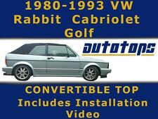 VW Volkswagen Rabbit Cabriolet Golf Convertible Top   80-93   OEM Cabrio Vinyl