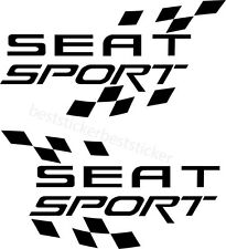 2x Seat Sport Aufkleber Car Window Bumper Laptop Sticker Vinil Decal 127