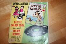 Vintage, 1954, LITTLE INDIAN, 00255, A Little Golden Book & 45 RPM Record, Wise