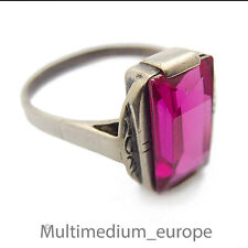 Art Deco anillo de plata rubin farbener espinela Silver ring Ruby color