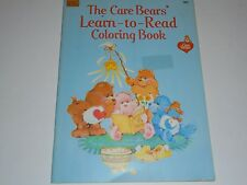 CARE BEARS COLORING BOOK 1980s Kenner Unused  LEARN TO READ