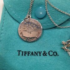 "Tiffany & Co 925 Sterling Silver 18"" Necklace  Set in Original Blue Pouch."
