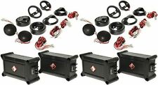 "2 Pairs Rockford Fosgate P1T-S 1"" Car Tweeters With Crossovers"