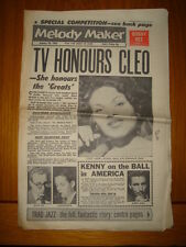 MELODY MAKER 1962 JAN 20 BOB VEE KENNY BALL CLEO LAINE