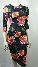 black floral print midi dress by CLUB L size 10 new