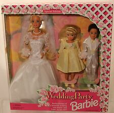 Barbie -Wedding Party - 3 doll set  # 13557 - 1993 - NRFB Barbie, Stacie & Todd
