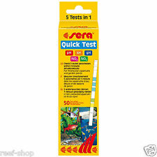 Sera Quick Test 50 Freshwater 5 in 1 Test Strips pH kH gH NO3 NO2 FREE USA SHIP!