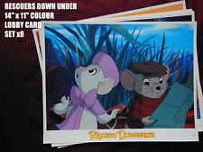 """RARE 14""""x11"""" ULTRA GLOSSY US LOBBY CARDSx8 - DISNEY'S THE RESCUERS DOWN UNDER"""