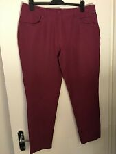 Rohan Women's Size 18 Trousers Raspberry Red Pink Slim Fit
