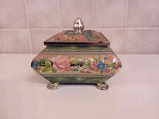 Blue Bird Confectionery Tin Harry Vincent Ltd Floral Tin Chest /Trinket Box