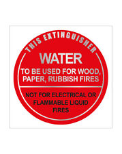 4 x Fire EXTINGUISHER WATER ID SIGNS - FREE POSTAGE
