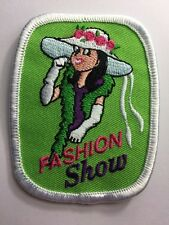 Girl Scout Fashion Show Hat Boa Dress Fun Patch Badge New Old Stock!!