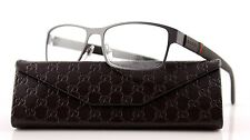 NEW GUCCI Matte Grey Stainless Steel Eye glasses Frame Glasses GG 2248 4VF BS