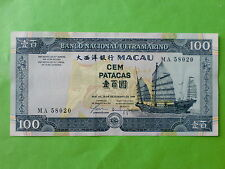 Macau BNU 100 patacas 1999 (PERFECT UNC)