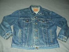 Mens Vintage Levis Denim Jean Jacket Size 42 Made In The Usa 70506